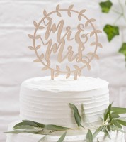 "Cake-Topper ""Mr & Mrs"" aus Holz"