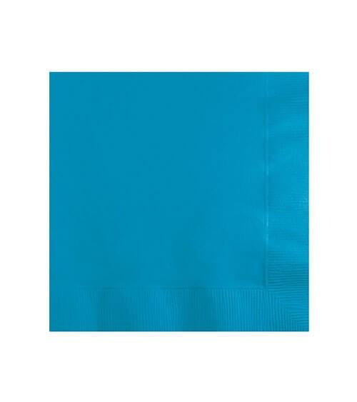 Cocktail-Servietten - türkisblau - 50 Stück