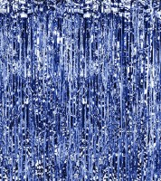 Glitzer-Vorhang - blau - 0,9 x 2,5 m