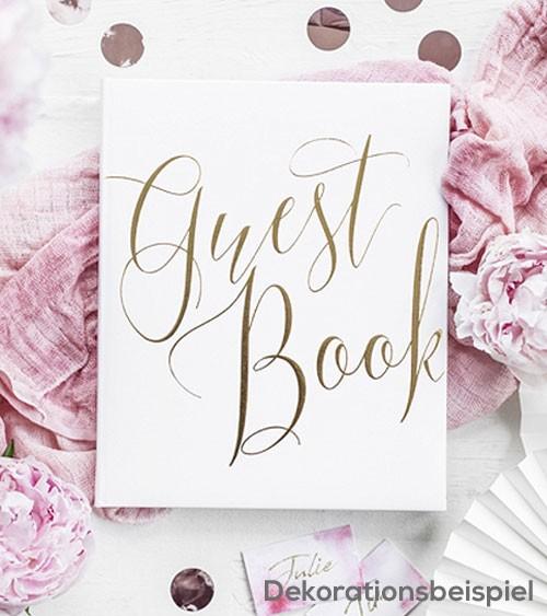 Gästebuch - weiß/gold