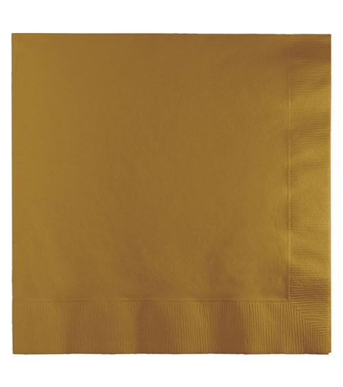 Servietten - shimmering gold - 50 Stück