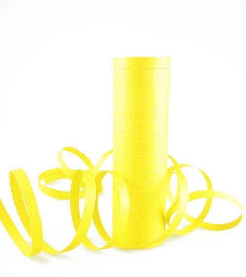 Papierluftschlange - gelb