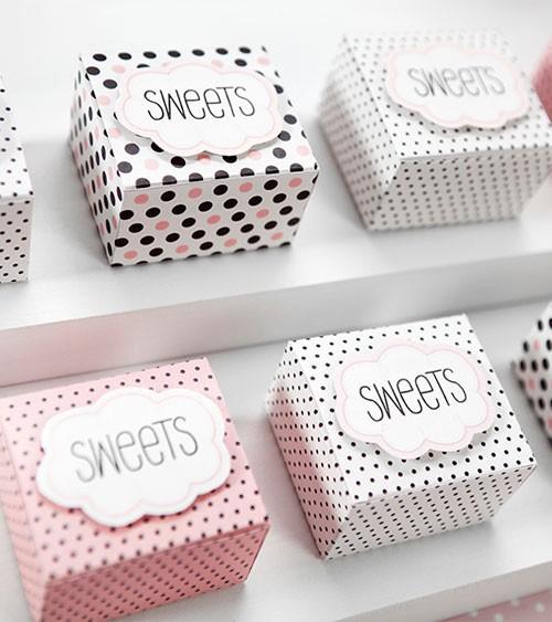 """Kleine Geschenkboxen """"Sweets"""" - 6 Stück"""