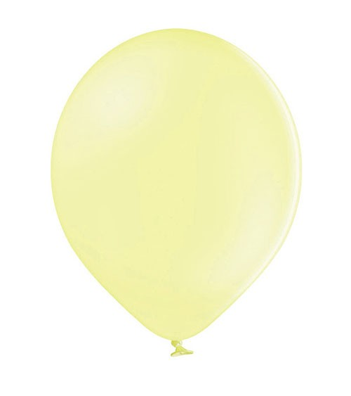 Standard-Luftballons - pastell gelb - 30 cm - 50 Stück
