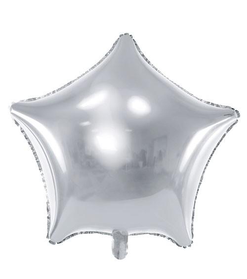 Stern-Folienballon - silber - 70 cm