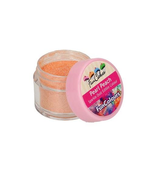 Funcakes Lebensmittelfarbe Pulver - glitter pfirsich - 3,5 g