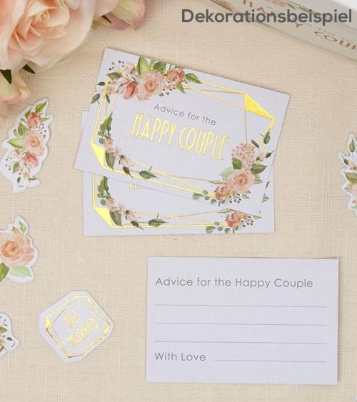 """Advice-Cards """"Geo Floral"""" - 25 Stück"""