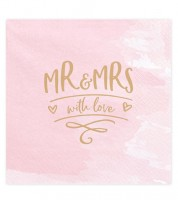 "Servietten ""Mr & Mrs with love"" - 20 Stück"