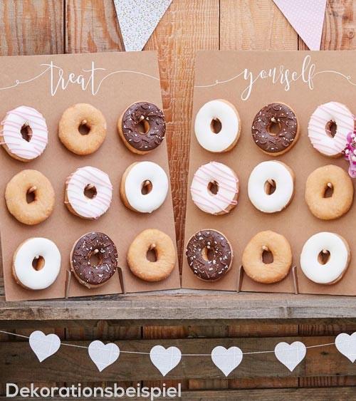 Donut-Wand aus Pappe - Kraftpapier - 2 Stück