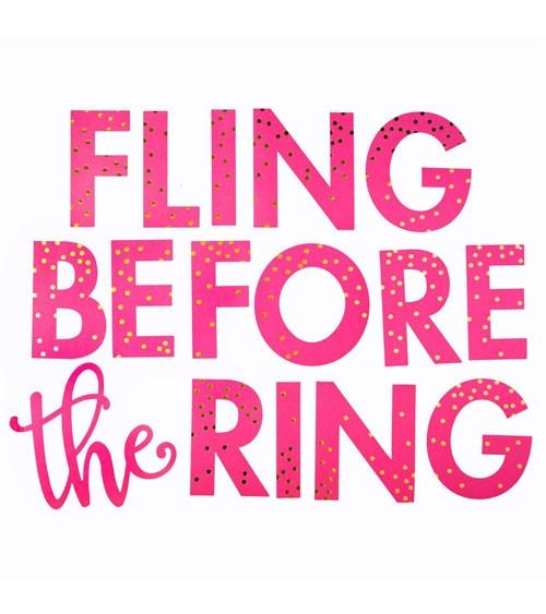 """Schriftzuggirlande """"Fling before the Ring"""" - 1,07 m"""