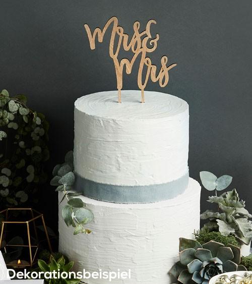 "Cake Topper aus Holz ""Mrs & Mrs"" (Frau & Frau)"