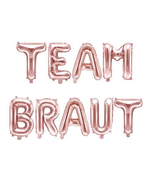 "Folienballon-Set ""Team Braut"" - rosegold"