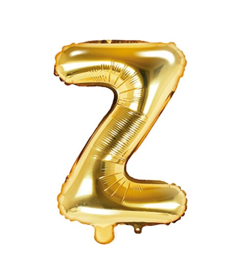 "Folienballon Buchstabe ""Z"" - gold - 35 cm"