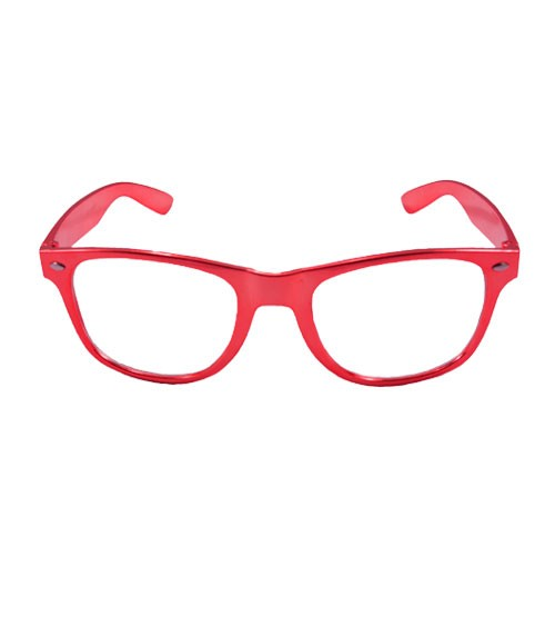 Party-Brille - metallic rot