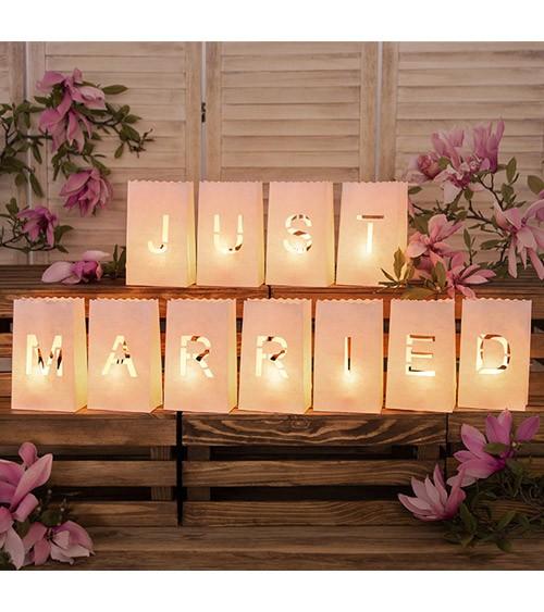 """Lichtertüten-Set """"Just Married"""" - 11-teilig"""