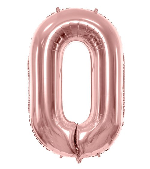 "SuperShape Folienballon ""0"" - rosegold"