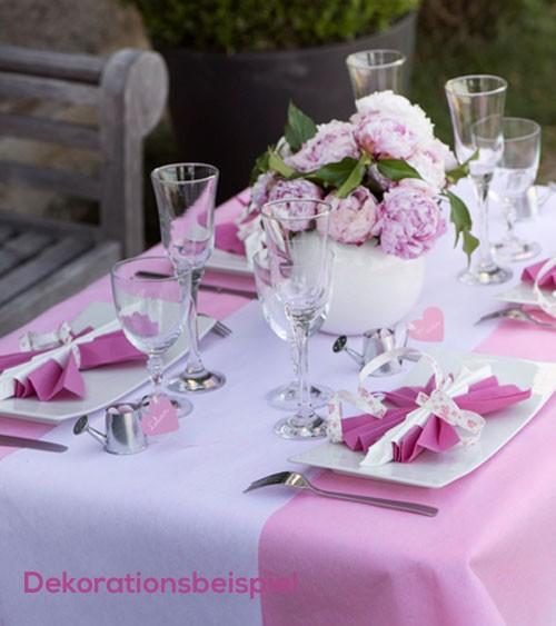 Tischläufer aus Vlies - weiß - 30 cm x 10 m