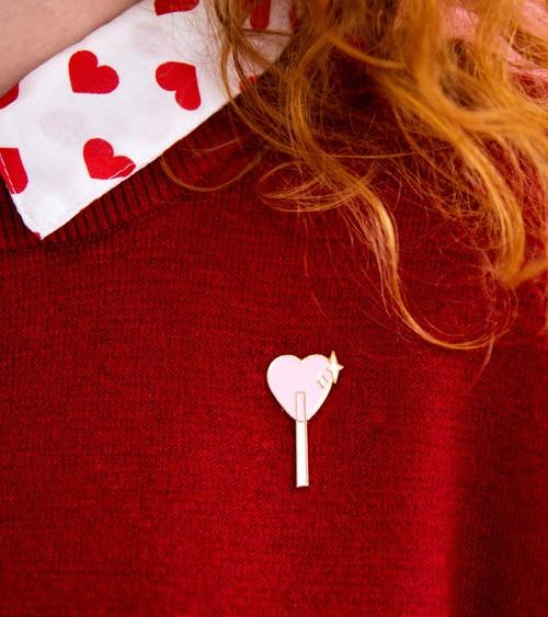 """Anstecker """"Lollipop"""" - 2 x 3,5 cm"""