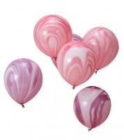 "Luftballon-Set ""Marble"" - rosa/lavendel - 10 Stück"