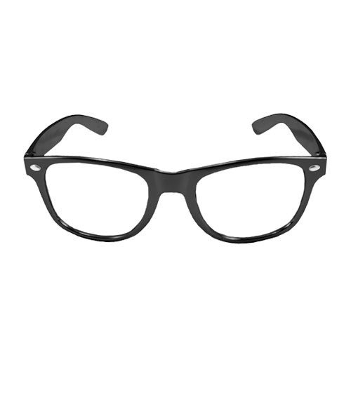Party-Brille - metallic schwarz
