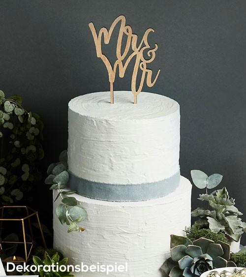 "Cake Topper aus Holz ""Mr & Mr"" (Mann & Mann)"