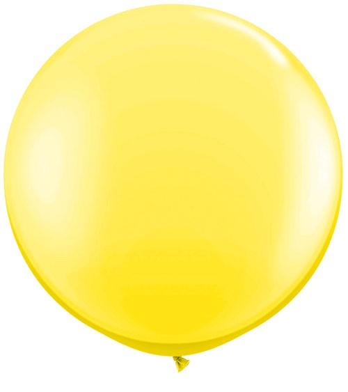 Riesiger Rundballon - gelb - 90 cm