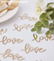 """Konfetti """"Love"""" - gold - 14 g"""