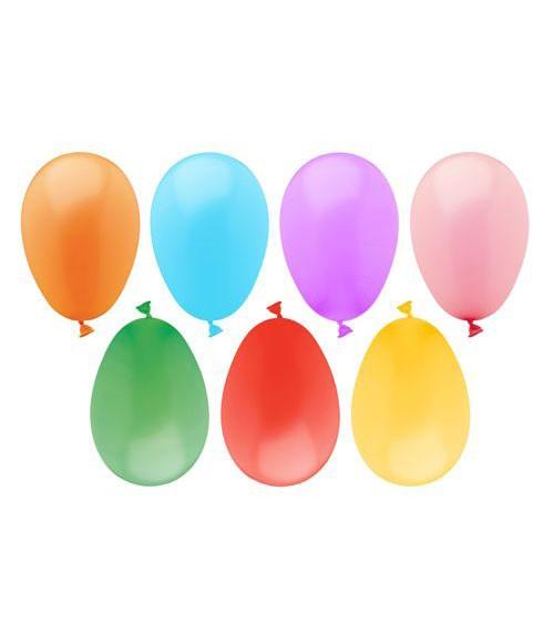 """Bunte Luftballons """"Wasserbomben"""" - 100 Stück"""