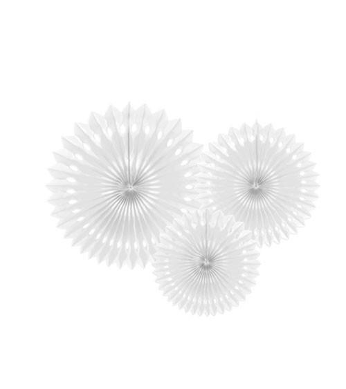 Rosetten-Set - weiß - 3-teilig