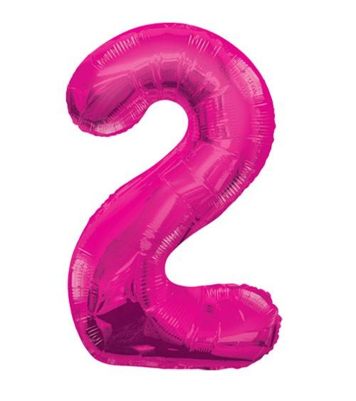 "Supershape-Folienballon ""2"" - pink"