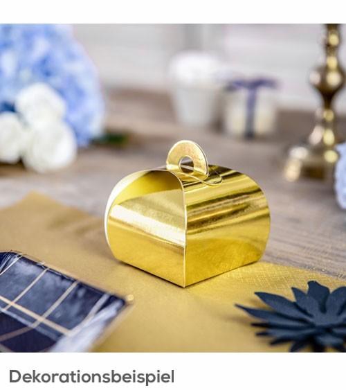Goldene Geschenkboxen - 6 x 6 cm - 10 Stück
