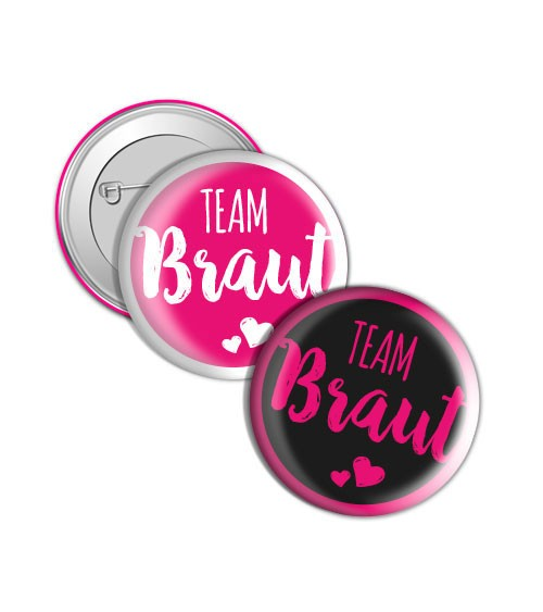 "Button ""Herz an Herz"" - Team Braut"