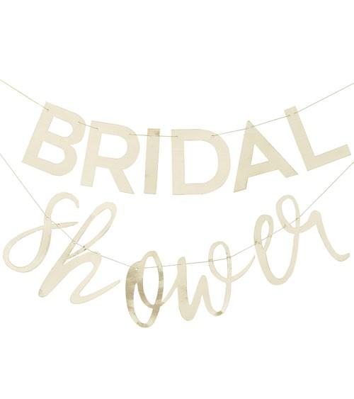 """Schriftzuggirlande """"Bridal Shower"""" - metallic gold - 2-teilig"""