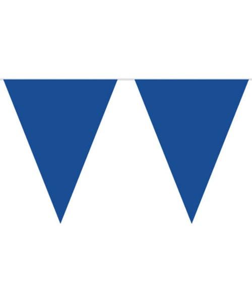XL-Wimpelgirlande aus Kunststoff - dunkelblau - 10 m