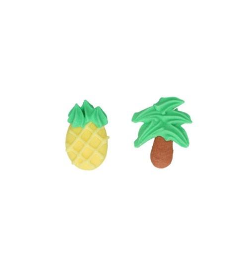 """Funcakes Zuckerdekore """"Ananas und Palmen"""" - 8 Stück"""