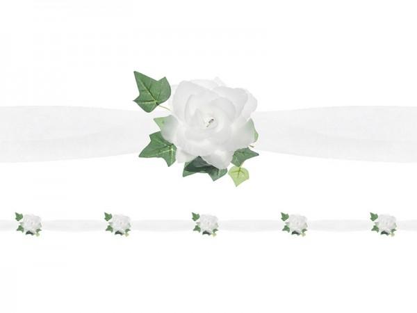 "Tüllgirlande ""Weiße Rosen"""
