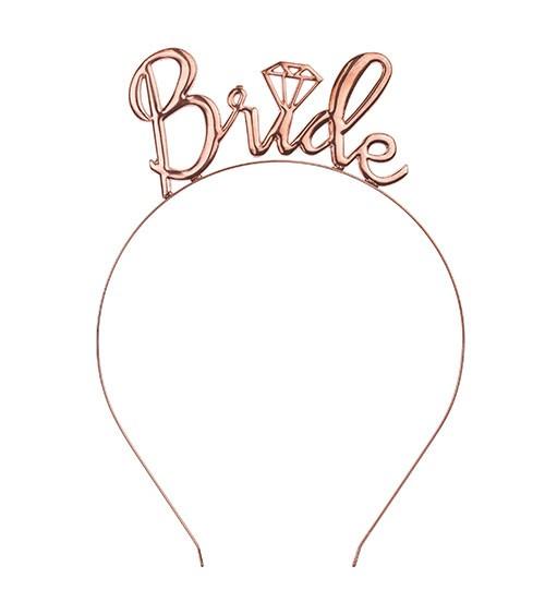Bride-Haarreif aus Metall - rosegold