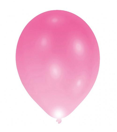 Leucht-Ballons - pink - 5 Stück