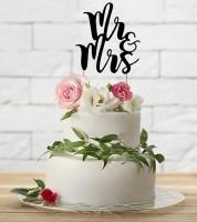 """Tortenstecker aus Papier """"Mr & Mrs"""""""