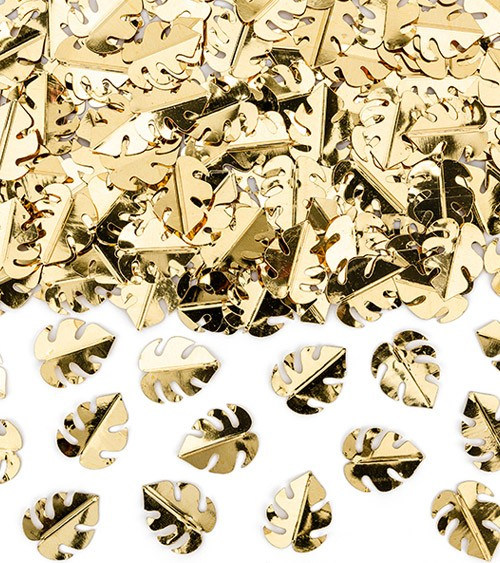 "Metallic-Konfetti ""Tropenblätter"" - gold - 15 g"