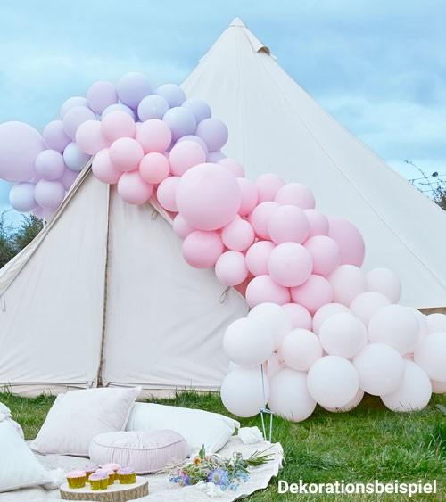 Deluxe Ballongirlanden-Set - Farbmix rosa & lavendel - 200-teilig