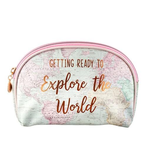 "Kosmetiktasche ""Explore the World"" - 21 x 14 cm"