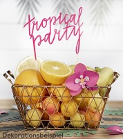 "Tortenstecker aus Papier ""Tropical Party"""