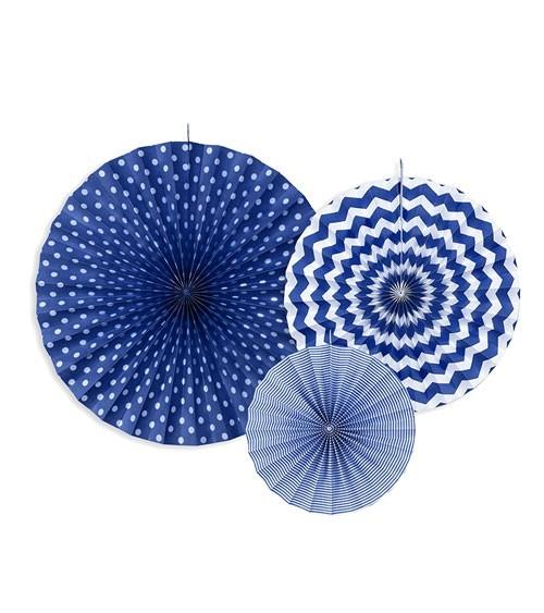 Rosetten-Set - navy blue - 3-teilig