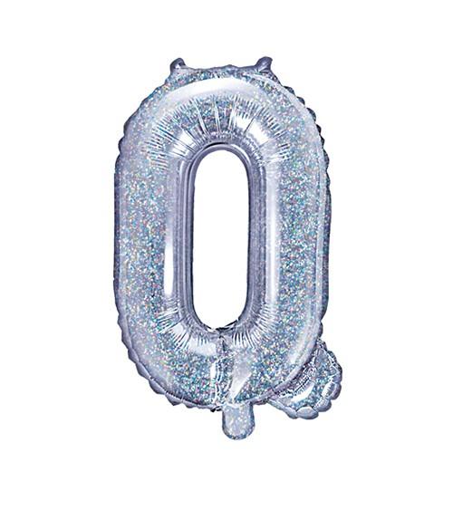"Folienballon Buchstabe ""Q"" - holographic - 35 cm"