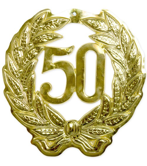 "Wanddekoration ""50"" - gold - 43 cm"