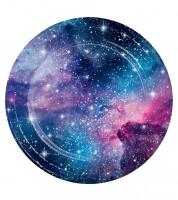 """Pappteller """"Galaxy-Party"""" - 8 Stück"""