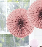 Papier-Deko-Fächer - 45 cm - rosa