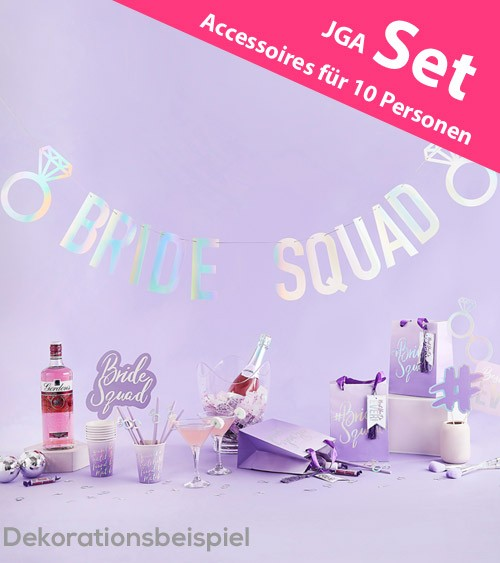 "JGA-Set ""Bride Squad"" - für 10 Personen - 41-teilig"