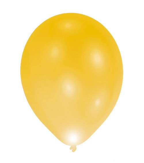 Leucht-Ballons - gold - 5 Stück